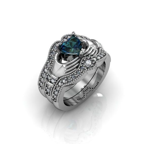 Claddagh Ring Created Alexandrite Sterling By