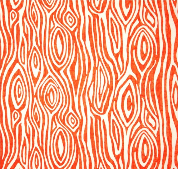 orange woodland home decor fabric by the yard designer drapery or