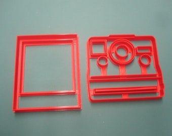 Polaroid Camera + Film Cookie Cutter/Fondant Set of Two