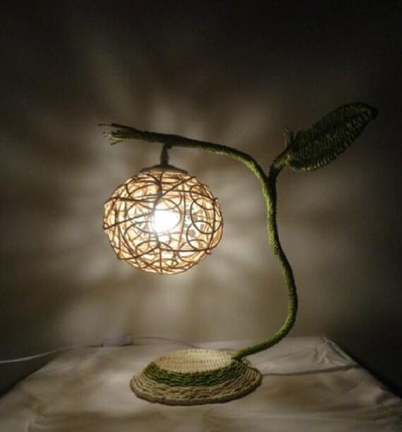 Style rural fait la main tissage lampe lampe de chevet - Lampe de chevet style africain ...