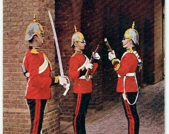 Old British Postcard - Tucks Military Series of 1903 - 2nd Life Guards. Relieving The Guard