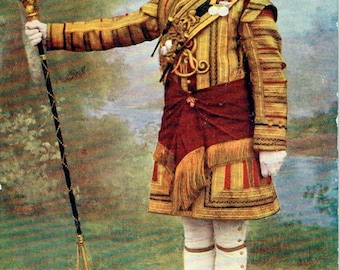 Old British Postcard - Tucks Military Series of 1903 - Grenadier Guards. Drum Major In State Dress