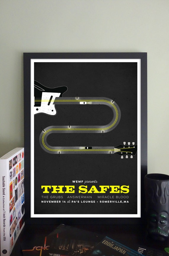 The Safes Gig Poster // PA's Lounge, Somerville, MA