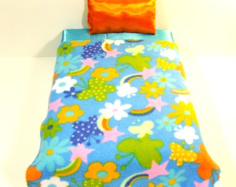 """Blanket and Pillow set for 18""""  Doll - 3"""