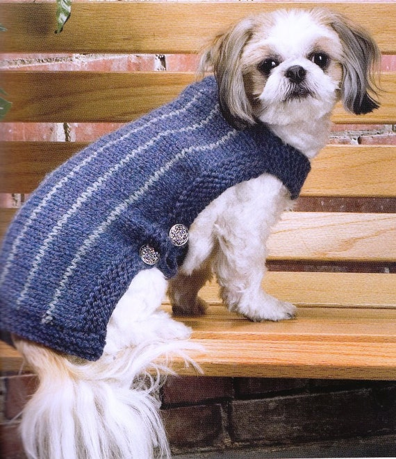 Knitting Patterns Dog Breeds : Items similar to Classic dog coat for small dogs of all breeds with adjustabl...