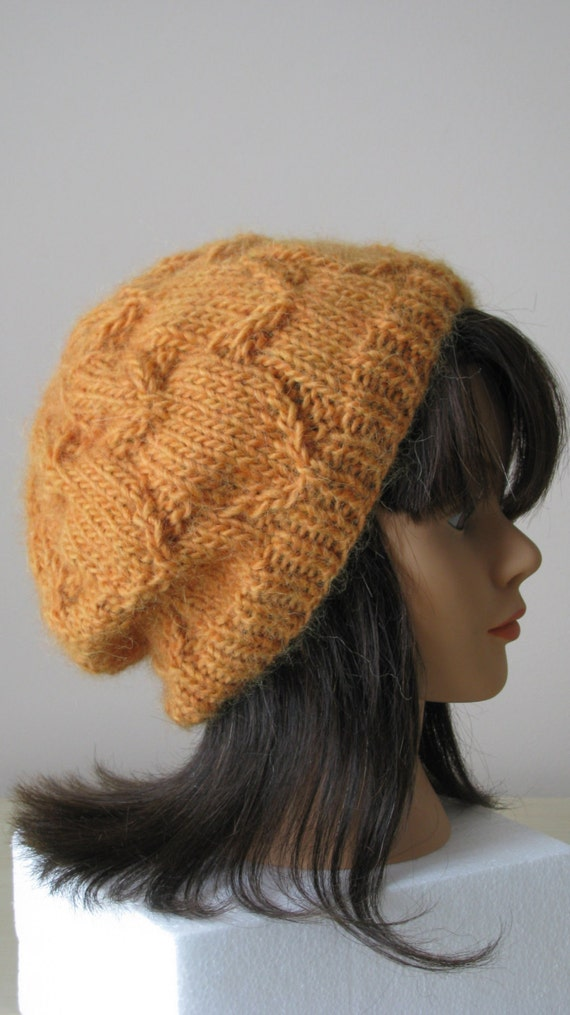Knitting Pattern womens hat using chunky yarn by NeedleLoveKnits