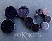 Blue Goldstone Plugs - Double Flared - 6mm - 8mm - 10mm - 11mm - 12.7mm - 14mm - 16mm - 19mm - 22mm - 25mm