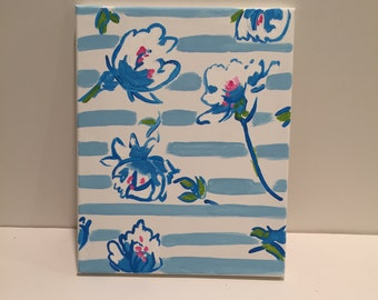 Custom Made to Order Hand Painted Canvas (Lilly Pulitzer) prints