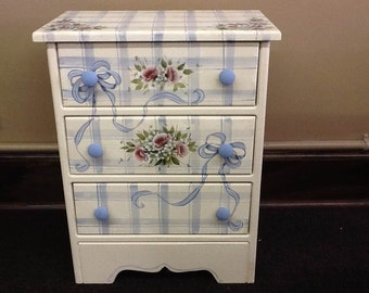 French Country Cottage Chic night stand or storage chest. A perfect accent piece for any room.