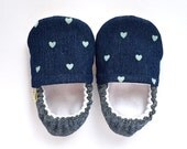 VERIFY SIZE before ordering - Chambray Heart Booties