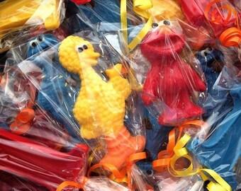 Sesame Street Lollipops. Elmo. Cookie Monster. Big Bird