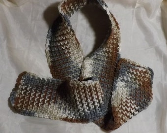 Skipping Pebbles Crocheted Scarf