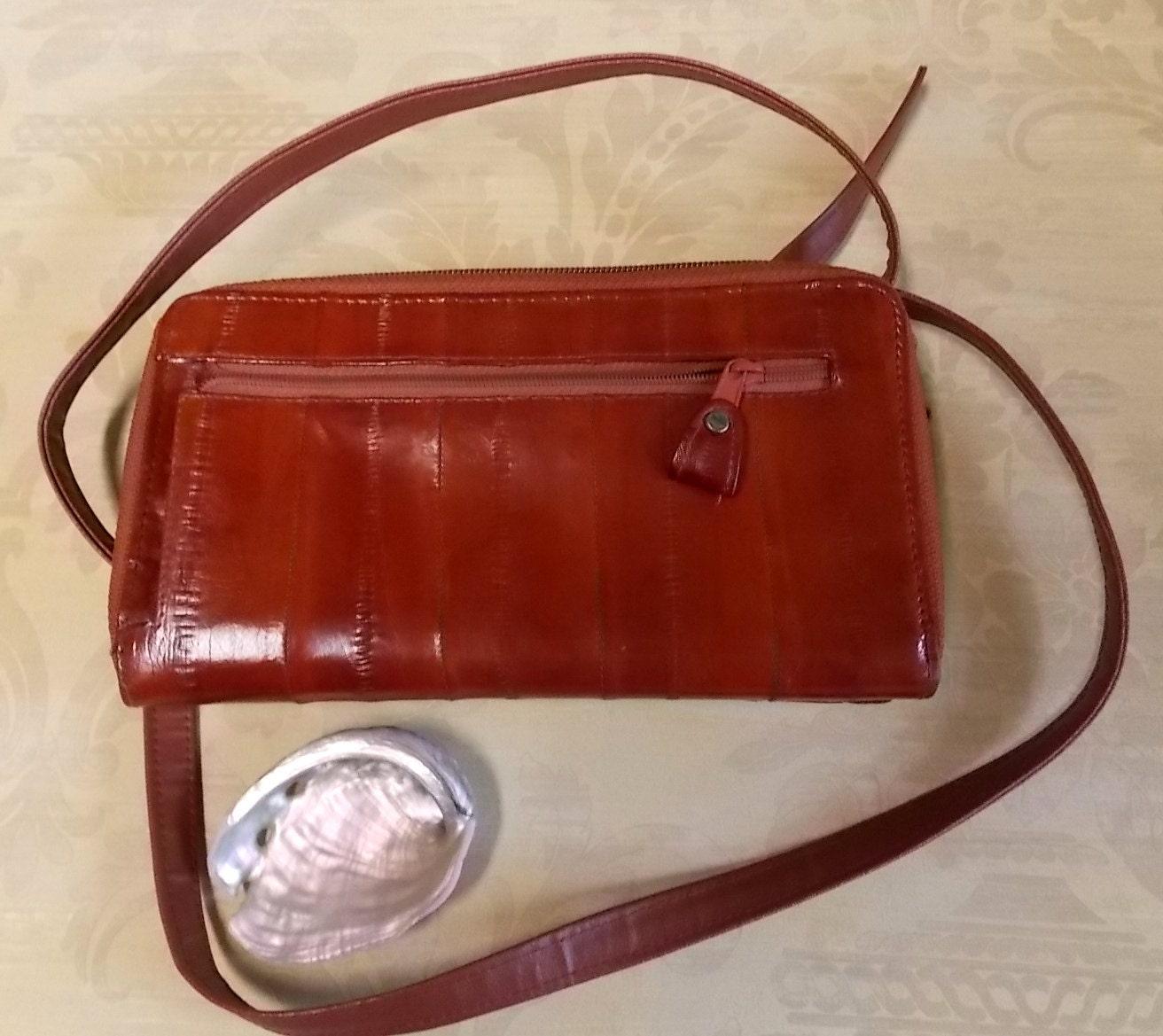 Vintage Lee Sands Purse Eel Skin Purse Vintage Clutch Bag