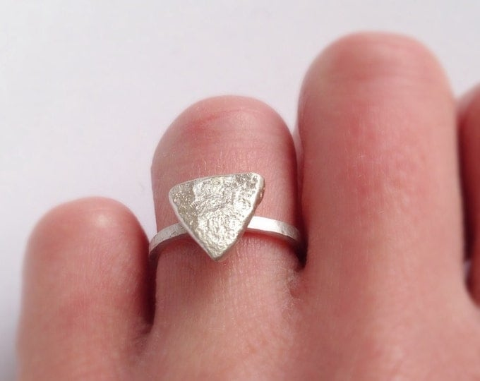 Triangle Ring - Alternative Engagement Ring in Recycled Sterling Silver