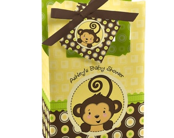 12 Monkey Favor Boxes - Custom Baby Shower and Birthday Party Supplies