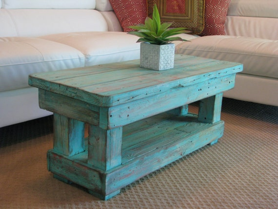Coffee Table With Shelf And Rounded By Dougandcristydesigns