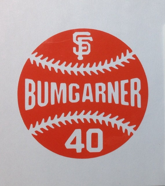 San Francisco Giants Baseball Outline Vinyl Decal With Player