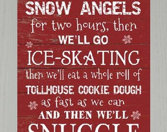 First We'll Make Snow Angels Buddy The Elf  Framed Decor Framed Art Picture 13x16""