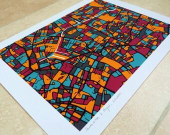 Shoreditch & Angel, London Art Map - Limited Edition Contemporary Giclée Print