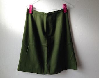 Vintage Bullock's Wilshire Wool Military Skirt