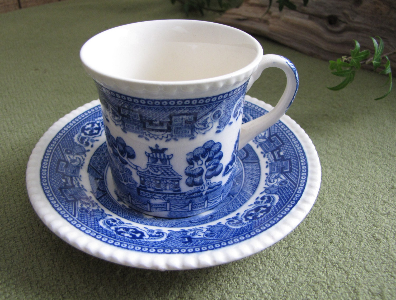 blue willow ware demitasse cup and saucer solian ware by. Black Bedroom Furniture Sets. Home Design Ideas