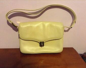 Genuine leather bag, cream bag, bag vintage, vintage accessories, Accessory, Handbag