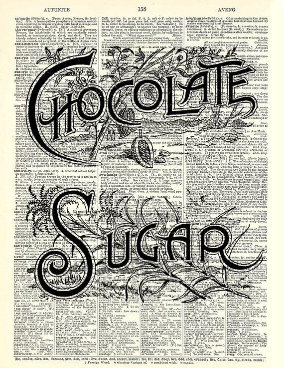 imprimer des tiquettes vintage sucre cuisine art et chocolat. Black Bedroom Furniture Sets. Home Design Ideas