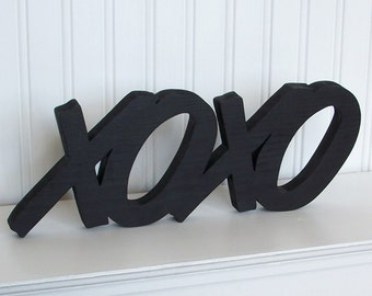 XOXO Wood Letter Sign - Painted Wood XOXO Word Sign