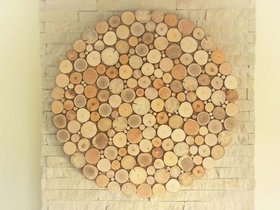 Tree Slices Decoration Round Wall Hanging Decor By