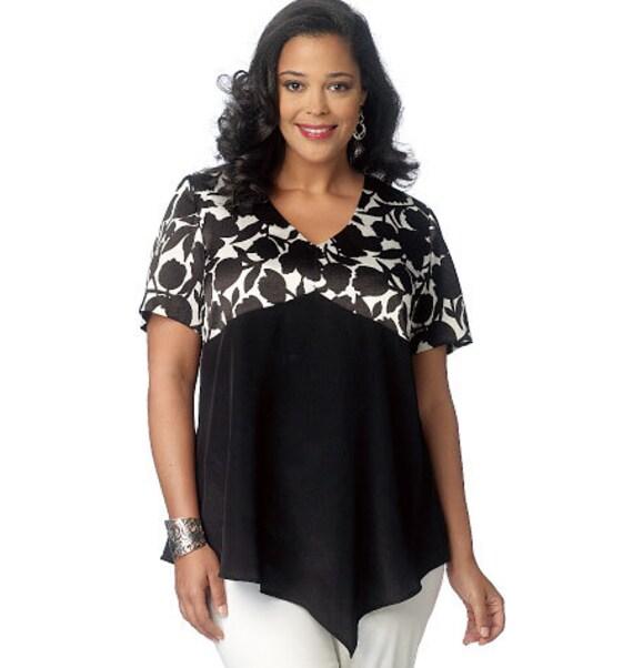 c8ed648d78b Butterick Sewing Pattern B6187 Misses  Women s Asymmetrical-Hem Tops ...