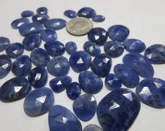 25 Cts Lot Natural Sodalite Flat Rose Cut Uneven shapes