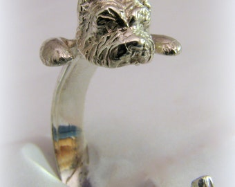 Silver Yorkie ring