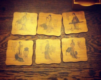 Set of 6 Korean Coasters