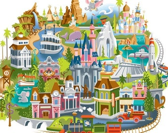 Disneyland Map cross stitch pattern