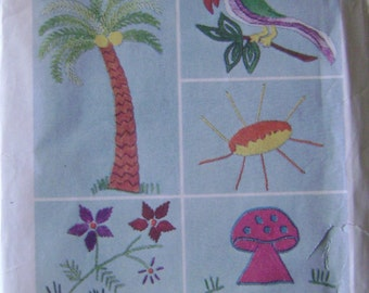 VINTAGE Simplicity Pattern 6198 Transfer Pattern for Embroidery