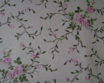 Vintage Roses Cotton Fabric by the yard