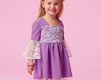 OUT of PRINT McCall's Pattern M7108 Children's/Girls' Dresses