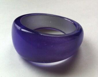 Chunky Translucent Purple Vintage Bracelet