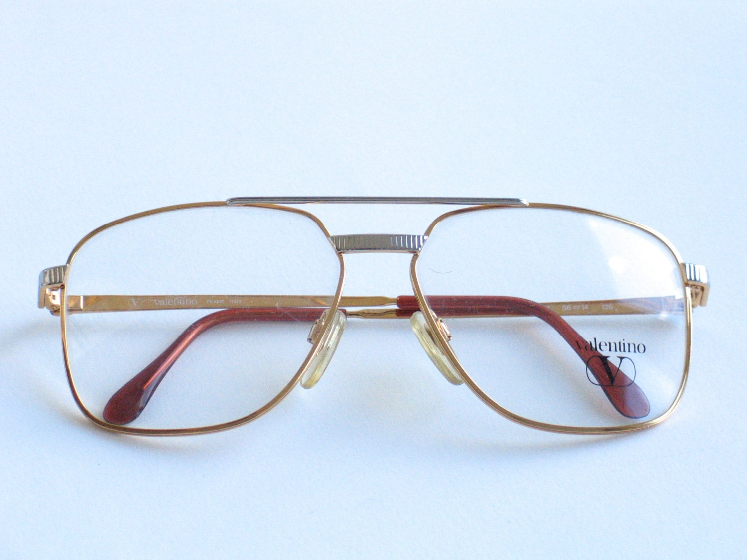 Valentino metal vintage eyeglasses frame for men. Made in ...