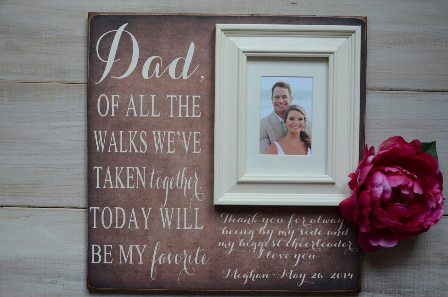 Wedding Present For Father Of The Bride : Father of the Bride Wedding Gift Personalized by FancyDayFrames