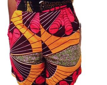 Ankara shorts, skorts and shorts,colorful shorts, womens shorts, African print shorts, Kitenge shorts,Summer wear,buddha pants, African shop
