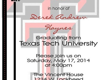 Graduation Party Invitation - Texas Tech