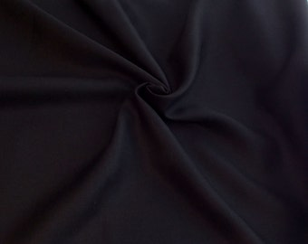 Linen/Rayon Fabric by the Yard - Black