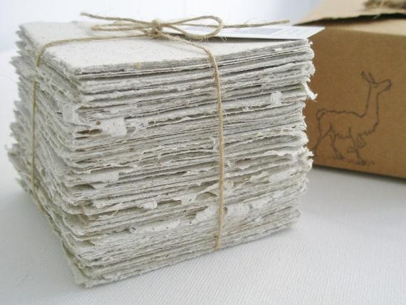 Llama Poo note Paper
