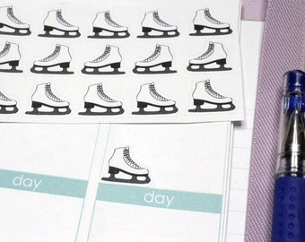 30 Ice Skate Stickers! Perfect for your Erin Condren Life Planner, Filofax, Kikkik, Plum Paper and other planner/agenda! #SQ00527