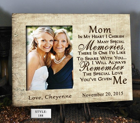 Wedding Day Gift For Bride From Mother In Law : SHARE Mother of the Bride Mother in Law Gift by PhotoFrameCompany