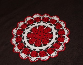 New Hand Crocheted Christmas Doily