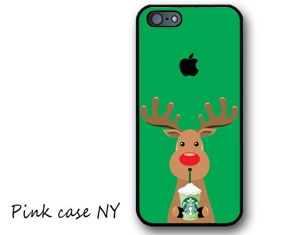 iPhone 6/6 plus Case, iPhone 5/5S/5C Case, iphone 4/4S Case - I love Starbucks - Rudolf