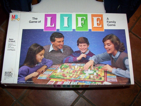 Vintage Board Game Game Of Life 1980s Board Game