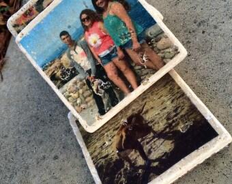 Tumbled Stone Customized Photo Coaster_SET OF 4